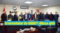 Erzurumlular'dan KADEF'e tebrik ziyareti!