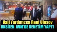 Vali Yardımcısı Rauf Ulusoy'dan Oksijen AVM'ye denetim