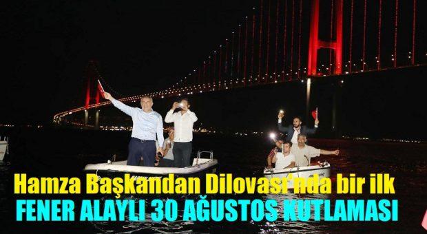 Başkan Şayir'den 30 Ağustos Zafer Bayramını Denizde Fener Alaylı Kutlama