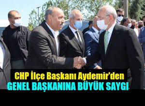 Aydemir, CHP Genel Başkanı Kılıçdaroğlu'nu Karşılamada Dikkatleri Üzerinde Topladı