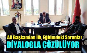 DEVA Partisi İlçe Başkanı Çelik, Milli Eğitim Müdürü Balay'ı Ziyaret Etti