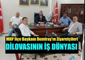 Osman Aktaş ve Yönetiminden MHP Başkanı Demiray'a Hayırlı Olsun Ziyareti